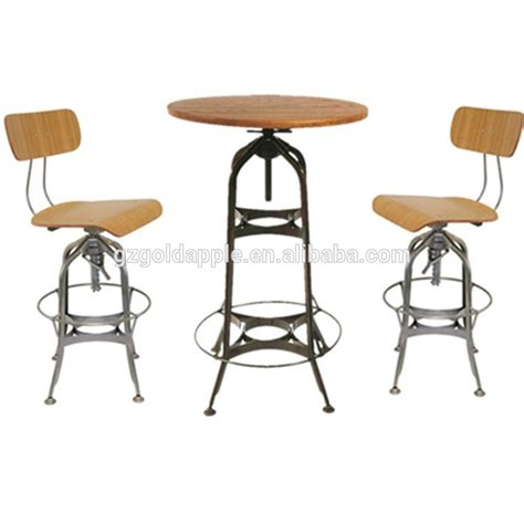 commercial industrial bar high top table and chairs bar