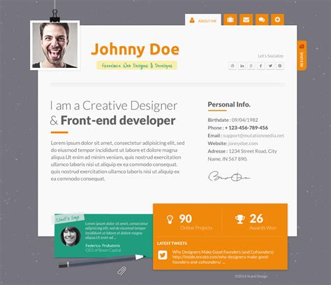 Themes Resume Website by 15 Best Cv Resume Themes Mooxidesign