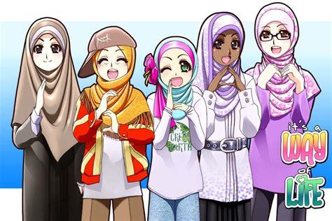 2 Rahim Pada Wanita Variasi Pena Muslim Cartoon Cute 1