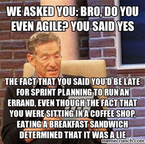Agile Meme - we asked you bro do you even agile you said yes