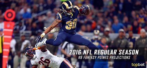 nfl running  fantasy points projections   season