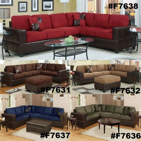 Microfiber Sectional Sofa by Chocolate Sectional 2 Pc Sofa Loveseat Wedge