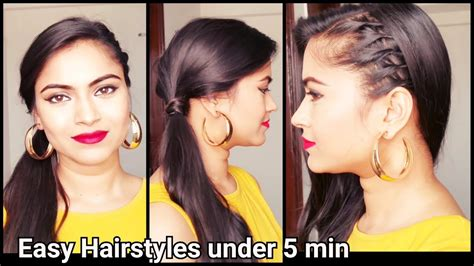 easy hairstyles  schoolcollegeoffice indian