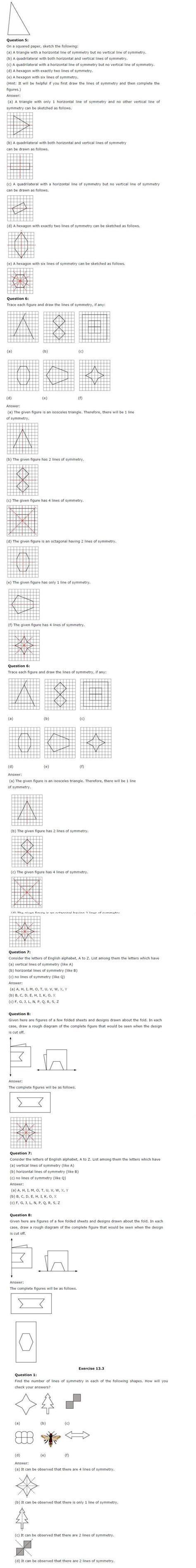 Ncert Solutions For Class 6th Maths Chapter 13  All Q&a