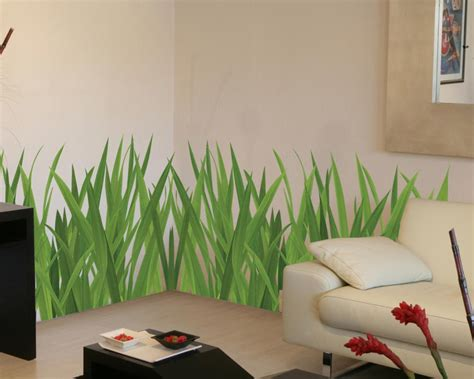 stickers muraux imitation wall decoration grass grass lawn sticker