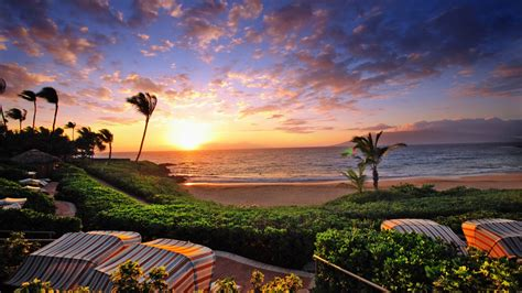 wailea sunset hawaii desktop background