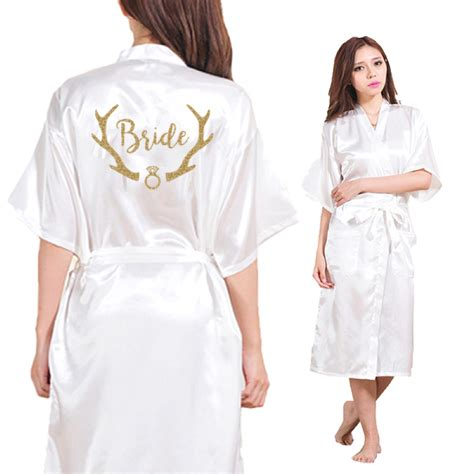 robe de chambre kimono femme dongking satin faux silk wedding tribe robes white