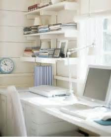 White Home Office Shelves