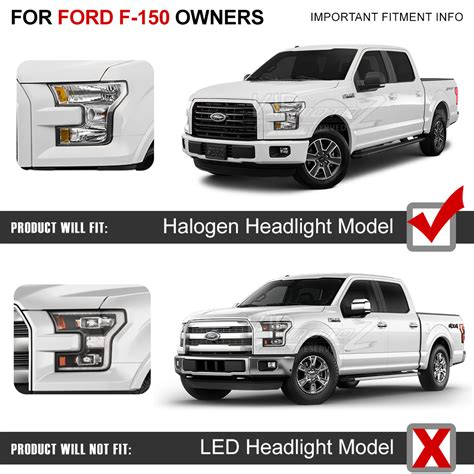 quot built in led low beam quot 2015 2017 ford f150 style