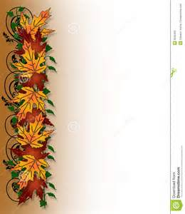 Fall Leaves Border Clip Art