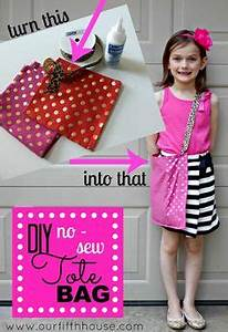 DIY No Sew Tote Bag ourfifthhouse