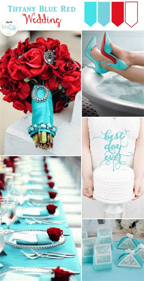 tiffany blue and red wedding inspiration love and