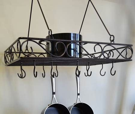 Pan Shelf With Hooks by Pot Pan Rack Hanging Design With Shelf