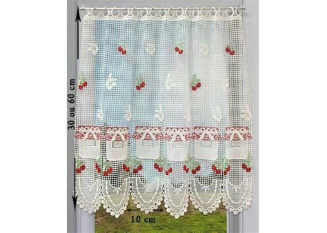macrame rideau cuisine petit rideau cantonnière macramé petit rideau prêt à