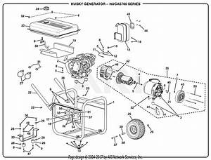 Homelite Huca5700 Generator Parts Diagram For General Assembly
