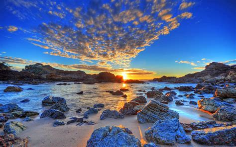 fond d 39 ecran rochers de plage wallpaper