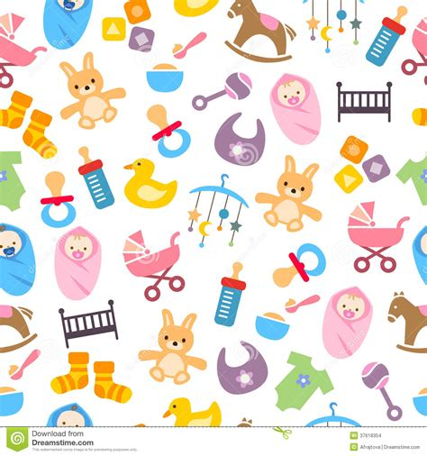 cute baby pattern stock images image