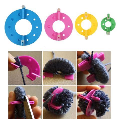 pom pom selber machen pompon set selber machen bommel maker pompom macher 4 versch gr 246 223 en kunst diy ebay