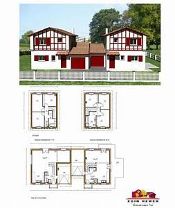 plan maison mitoyenne With plan de maison mitoyenne