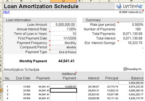 mortgage amortization table excel free loan amortization schedule calculator