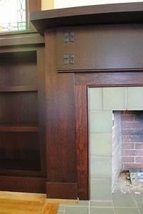 qt sawn white oak fireplace surround bookcases oak