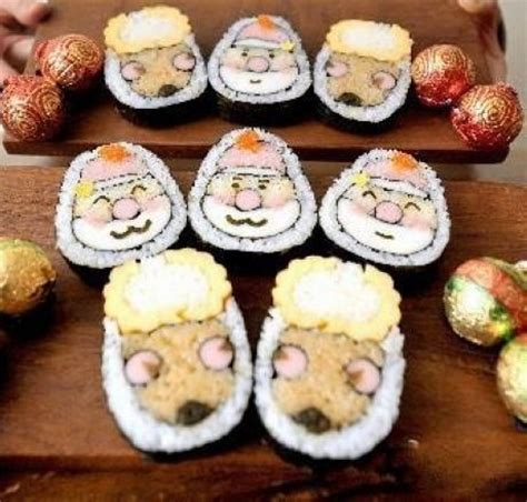 top 28 christmas tree roll sushi maki sushi roll for