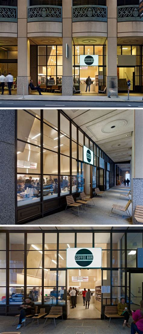 This coffee shop in San Francisco is designed with an ...