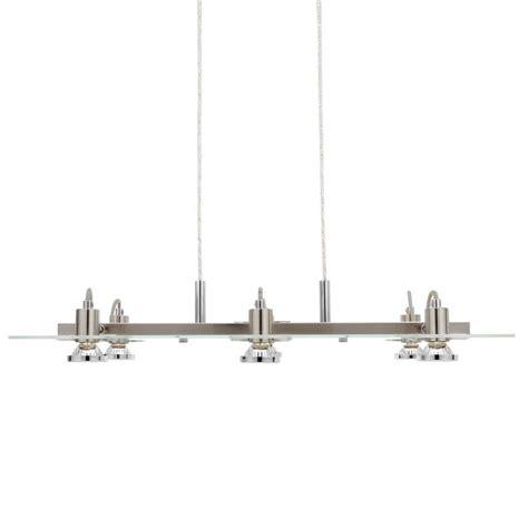 home depot hanging ls eglo focus 6 light matte nickel hanging chandelier 20124a