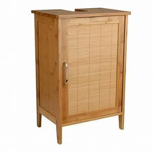 Waschtischunterschrank 60 Cm Breit : waschtischunterschrank bambus braun 27 x 40 x 60 cm aussparung f r siphon verstellbarer ~ Bigdaddyawards.com Haus und Dekorationen
