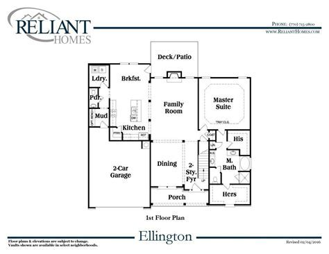 Ellington A FE   Reliant Homes   New Homes in Atlanta