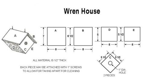 pdf woodwork wren bird house plans download diy plans