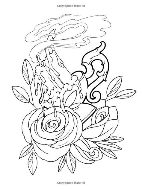 Dover Publications on Amazon / Creative Haven Floral Tattoo Designs Coloring Book / Erik Siuda