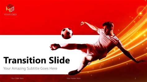 futbol plantilla de powerpoint moderna version roja