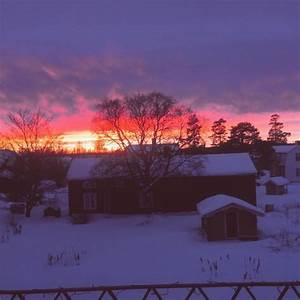 Untitled  U2014 Back Home After A Long Week Away   Sunset  Snow
