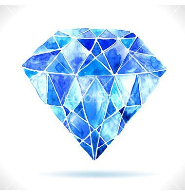 beautiful blue 39 s superior watercolor beautiful blue diamond vector 2266570 by