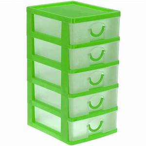 Boite Tiroir Plastique : bloc coffret tour boite de rangement 5 tiroirs plastique ebay ~ Teatrodelosmanantiales.com Idées de Décoration