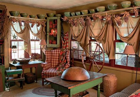 Home Curtain : Inspiring Primitive Home Decor Examples