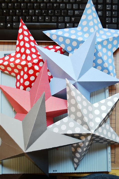 craft activities images on the occasion of christmas 3d can use any patterned paper to create for birthdays and any