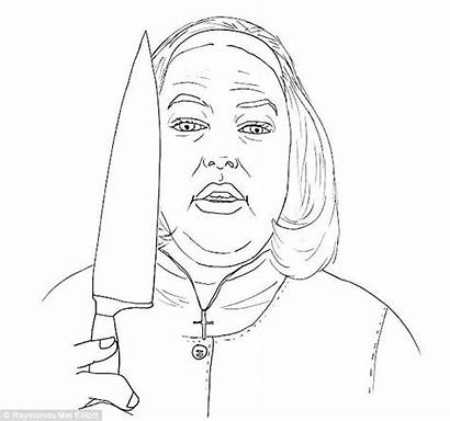 Horror Coloring Colouring Drawings Tesco Pages Adults