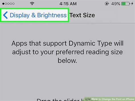how to change iphone font 3 ways to change the font on iphone wikihow
