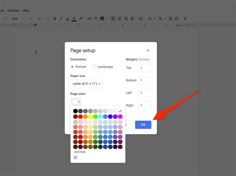 How to change the background color on Google Docs in 5 ...