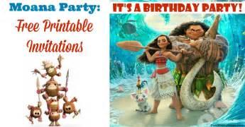 moana invitations free printables for a princess birthday