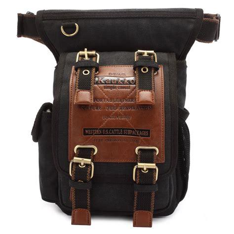 kaukko fh outdoor  men canvas sling waist leg bag