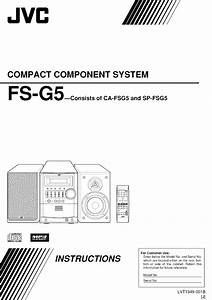 Jvc Fs G5 User Manual Tabletop Manuals And Guides L0604591
