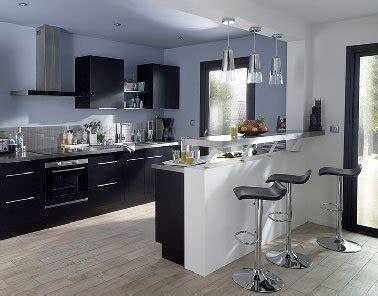 table bar cuisine castorama cuisine noir avec îlot moderne noir et blanc castorama