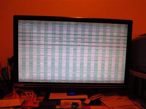 freeze - Computer suddenly dies; screen displays weird