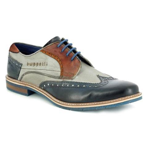 Bugatti schuhe versandkostenfrei im offiziellen shop bestellen. Bugatti 312-64703-4141 Mens Premium Leather Brogue Shoes - Dark Blue/Grey