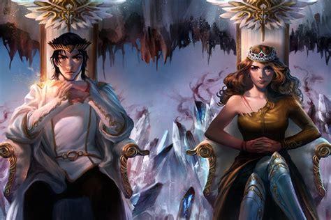 air awakens fantasy art throne crown wallpapers hd
