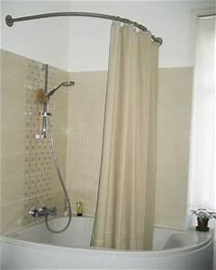 Barre D Angle Extensible Pour Rideau De Baignoire : tringle rideau de douche pour baignoire d angle ~ Premium-room.com Idées de Décoration
