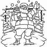 Coloring Printable Nick Saint While Santa Pages Wait St sketch template